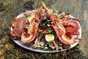 a seafood platter