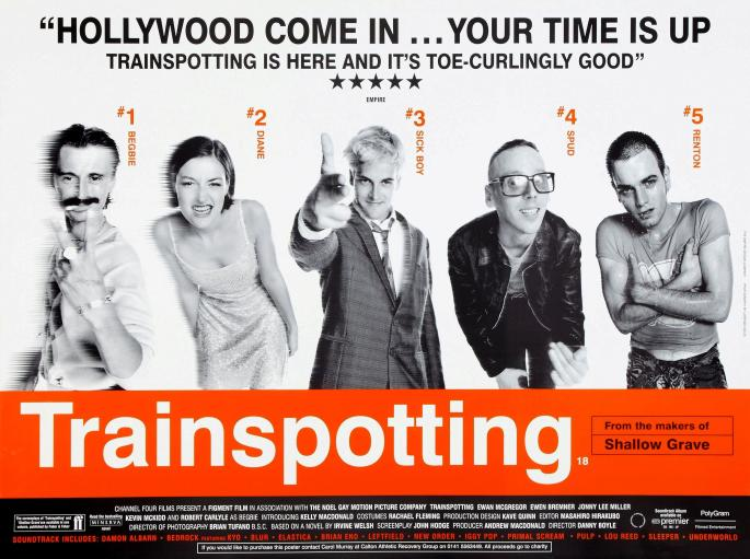 Trainspotting poster from 1996
