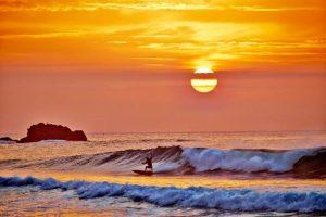 Sunset over Praia da Cordoama