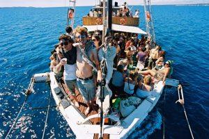 Party afloat